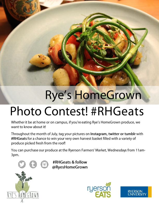 July 2015 Photo Contest: #RHGeats on twitter, instagram or tumbler with whatever goodies you make at home with RHG produce for a change to win a harvest basket and be featured on our website